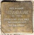 Stolperstein Stierstr 21 (Fried) Richard Adam.jpg
