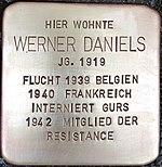 Stolperstein für Werner Daniels (Alte Krefelder Straße 39)