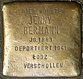Stumbling block for Jenny Bermann (Jahnstraße 20)