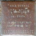 Stolpersteine Köln, Meta Schön (Sternengasse 48).jpg
