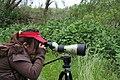 Stone Lakes National Wildlife Refuge, Sacramento, California, USA-bird spotting using a telescope-24April2009.jpg