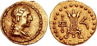 "Agathokleia - Gold coin of Strato I, with the ""Divine Agathokleia""."