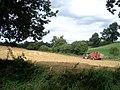 Straw baling at Priors Halton - geograph.org.uk - 547475.jpg