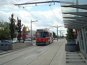 512 St. Clair - Streetcar arriving at Keele from Gunns Loop