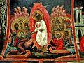 Sts. Theodore Tyron & Theodore Stratelates in Dobarsko Fresco.jpg