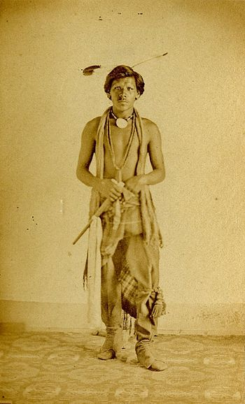 Studio portrait of a Native North American man