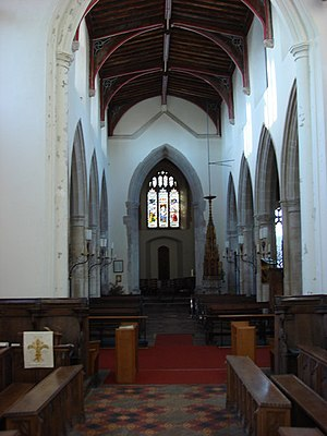 Grade I listed buildings in Babergh - The interior of St Gregory's, the main parish church of Sudbury.
