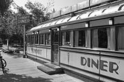 """The Summit Diner in Summit New Jersey, is a prototypical """"rail car"""" style diner."""