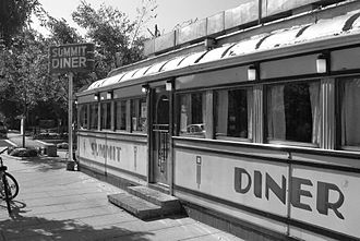 Diner - The Summit Diner in Summit, New Jersey, is a prototypical Northeast U.S. railcar-style diner, built by the O'Mahony Company in 1938