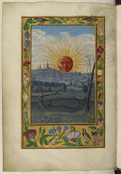 File:Sun with human face rising - Splendor Solis (1582), f.33v - BL Harley MS 3469.jpg