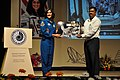Sunita Lyn Williams Presents NASA Image to Arijit Dutta Choudhury - Science City - Kolkata 2013-04-02 7459.JPG