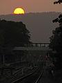 Sunset at Payangadi Railway Station.jpg