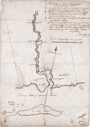 Gananoque - A surveyor's map of Gananoque from 1787
