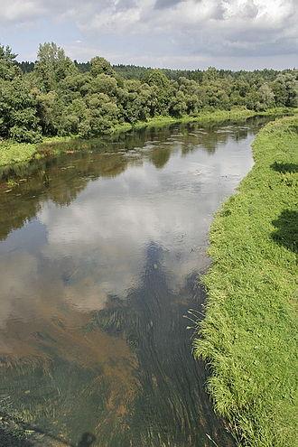 Ukmergė District Municipality - Šventoji River seen from the bridge