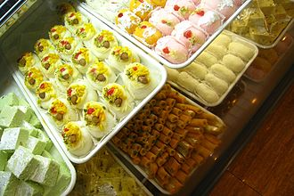 Diwali - Sweets mithai (dessert) are popular across India for Diwali celebration.
