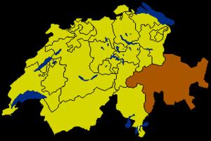 Граубюнден на карте