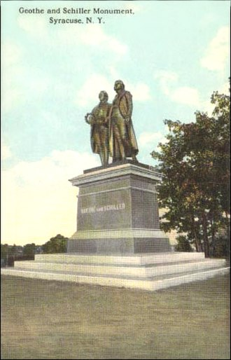 Northside, Syracuse - Goethe–Schiller Monument erected in 1911 in Schiller Park