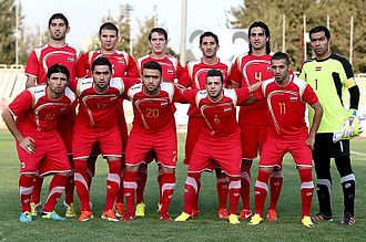 Syria national football team - Syria national football team in Tehran – 2015 AFC Asian Cup qualification