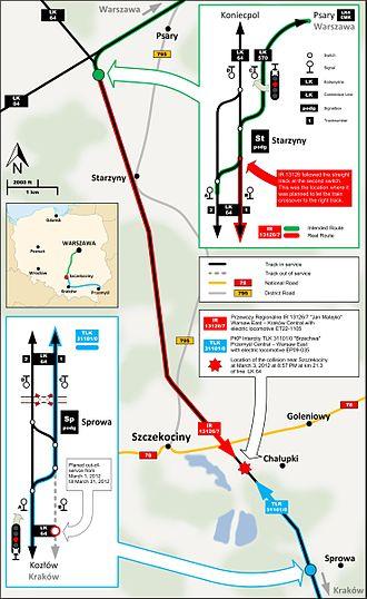 Szczekociny rail crash - Image: Szczekociny 01 AB en
