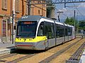TEB AnsaldoBreda Sirio 001 stazione tram Albino 20120712.JPG