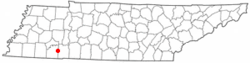 Location of Adamsville, Tennessee