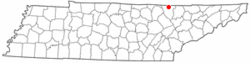 Location of Winfield, Tennessee