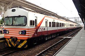 EMU1200型自強號在舊台中車站(地面段)