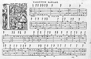Bálint Bakfark - Music sheet by Bálint Bakfark with French tablature