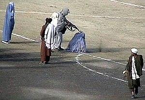 Taliban treatment of women - Image: Taliban execute Zarmeena in Kabul in 1999 RAWA
