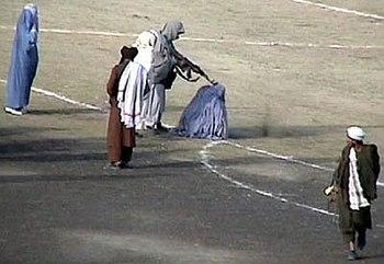 The November 1999 public execution of Zarmeena...