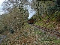 Talyllyn Railway line to Nant Gwernol - geograph.org.uk - 958526.jpg