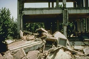 1976 Tangshan earthquake - Buildings were flattened into rubble when the earthquake hit.