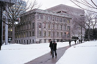 Winters in Toronto are typically cold with frequent snowfall. Tanz Neuroscience Building 2011 Toronto.jpg