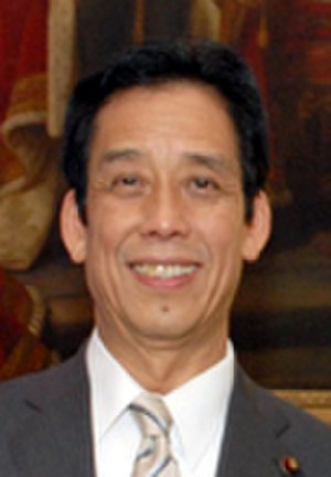 Minister of Education, Culture, Sports, Science and Technology - Image: Tatsuo Kawabata cropped 2 Tatsuo Kawabata and David Warren 20120606