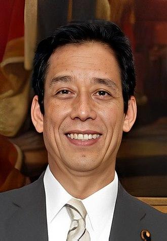 Minister of Education, Culture, Sports, Science and Technology - Image: Tatsuo Kawabata cropped 2 Tatsuo Kawabata and David Warren 20120606