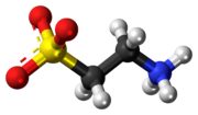 Ball-and-stick model of the taurine zwitterion
