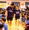Teacher and student of Nan Hua High School, Singapore, during Teachers' Day - 2012.jpg