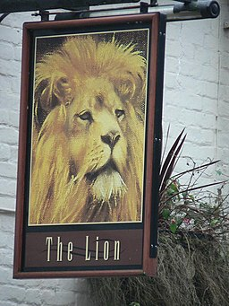 Telford, The Lion pub sign - geograph.org.uk - 636194