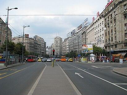 Kako doći do Terazije pomoću gradskog prevoza - O mestu