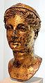 Testa di una dea, forse dalla campania, bronzo dorato, II sec. 02.JPG