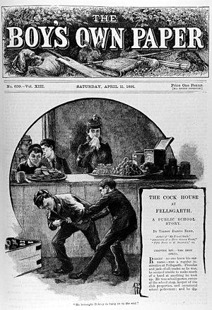 British comics - The Boy's Own Paper, front page, 11 April 1891.