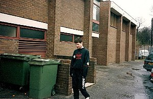 Denis Irwin - Denis Irwin outside The Cliff in 1992