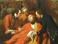 The Death of General Wolfe by Benjamin West (detail) - Royal Ontario Museum - DSC00245.JPG