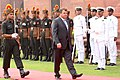 The Defence Minister of Russia, Mr. A.E. Serdyukov inspecting the Guard of Honour, in New Delhi on October 07, 2010.jpg