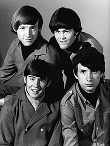 The Monkees in 1966. Clockwise from top left: Peter Tork, Micky Dolenz, Michael Nesmith, Davy Jones