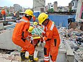 The NDRF personnel engaged in Search and Rescue Operations in the earthquake hit Nepal (1).jpg