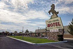 A motel in Victorville