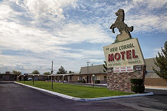 Victorville, California - A motel in Victorville
