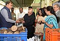 The President, Shri Pranab Mukherjee visiting the Adamya Chetana-Midday Meal Kitchen for over one lakh children, at Bengaluru (1).jpg