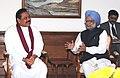 The President of Sri Lanka, Mr. Mahinda Rajapaksa meeting the Prime Minister, Dr. Manmohan Singh, in New Delhi on October 15, 2010.jpg